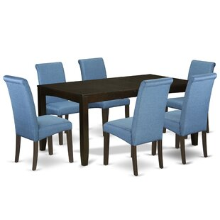 Paras 7 Piece Extendable Solid Wood Breakfast Nook Dining Set