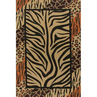 Guide to buy Doctor Phillips Brown/Black Animal Print Area Rug By Bloomsbury Market