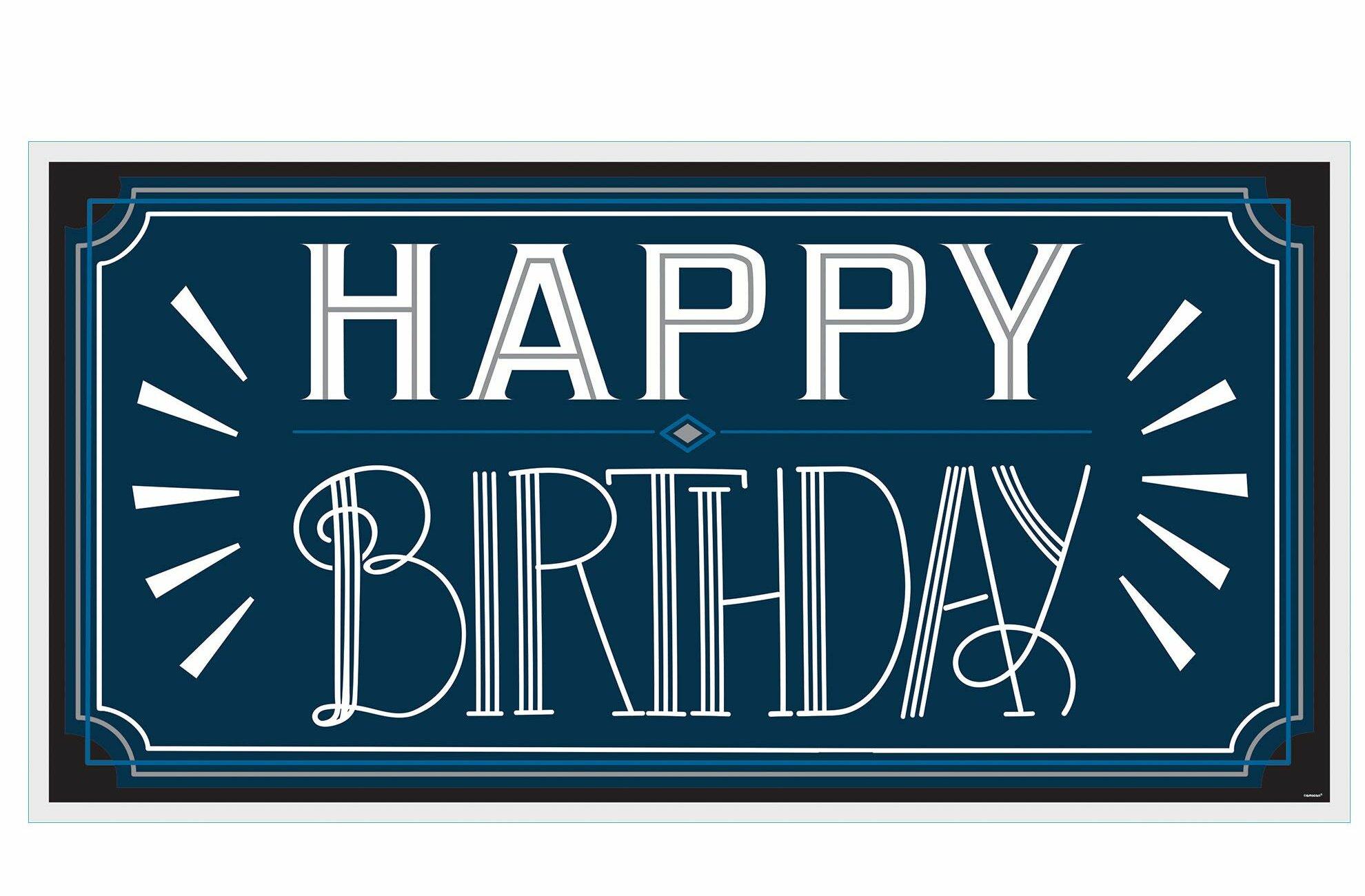 Amscan Happy Birthday Man Horizontal Banner Wayfair
