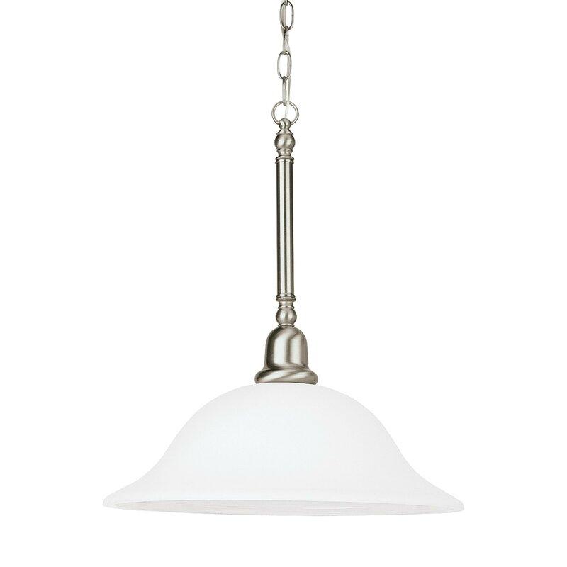 Charlton Home Harrisburg 1 Light Single Bell Pendant Reviews Wayfair