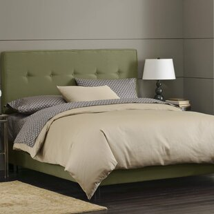 Button Tufted Upholstered Panel Bed by Skyline Furniture