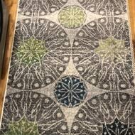 Ebern Designs Darcio Geometric Gray White Green Area Rug Reviews Wayfair