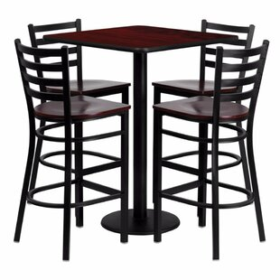 Portia 5 Piece Pub Table Set b..