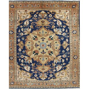 One-of-a-Kind Dawsonville Kashan Dabir Persian Hand-Knotted 10' 8'' x 14' 3'' Wool Red/Burgundy Area Rug ByIsabelline