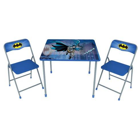 Batman Kidsu0027 3 Piece Square Table and Chair Set  sc 1 st  Wayfair & Ou0027Kids Inc. Batman Kidsu0027 3 Piece Square Table and Chair Set   Wayfair