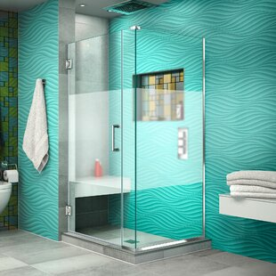 Unidoor Plus 32 x 72 Hinged Frameless Shower Door with Clear Max Technology by DreamLine