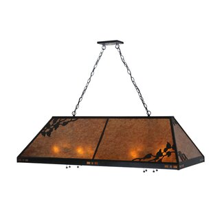 Meyda Tiffany Greenbriar Oak 8-Light Billiard Light
