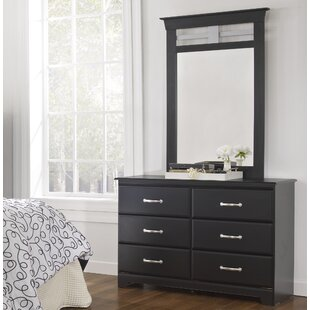 Trenton 6 Drawer Double Dresser with Mirror
