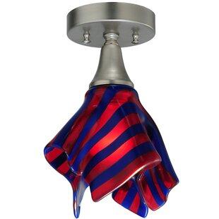 Meyda Tiffany Metro Fusion Satrial's Dream Handkerchief 1-Light Flush Mount