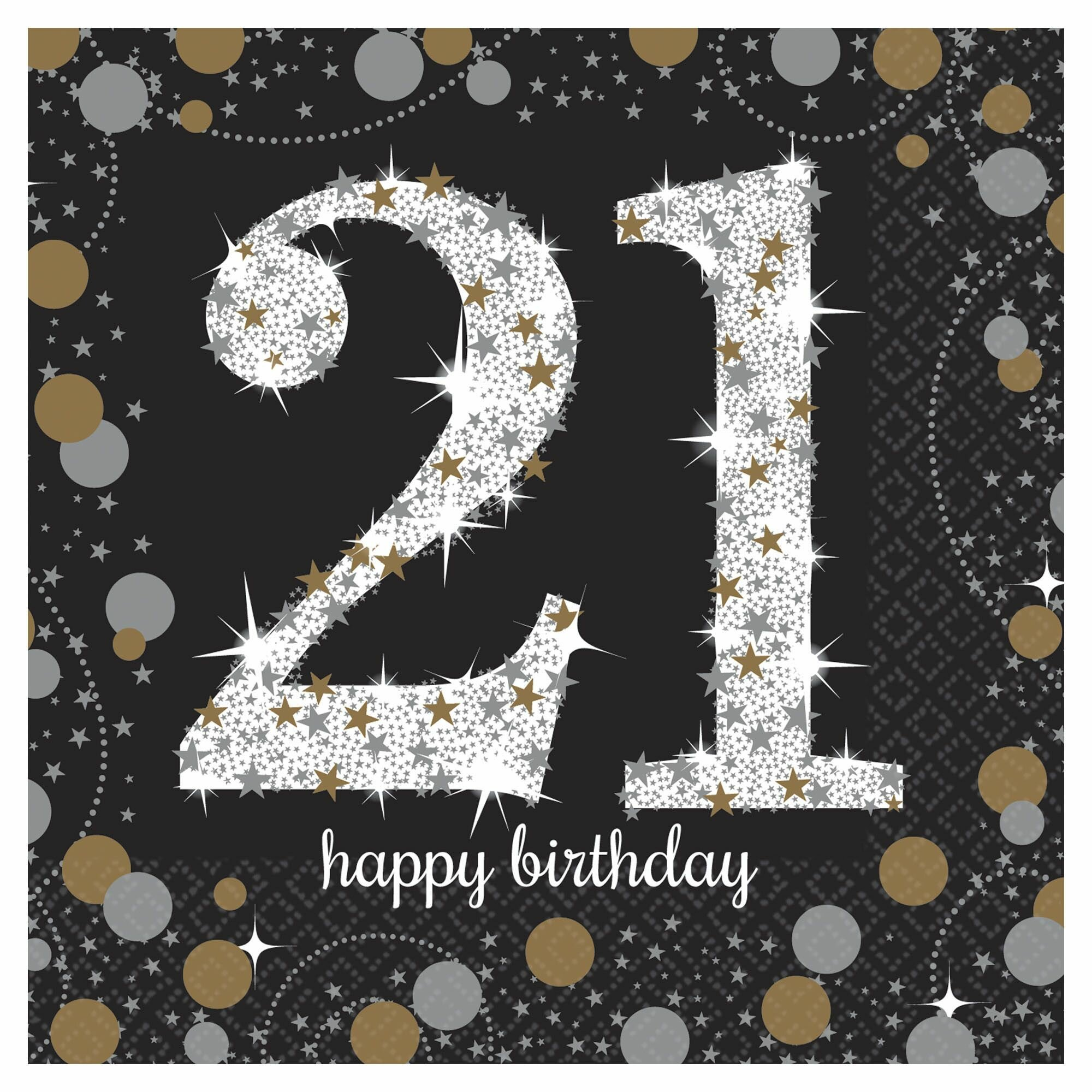 Amscan Sparkling Celebration 21st Birthday Beverage 5 Paper Disposable Napkins Wayfair