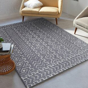 Cadsden Hand-Tufted Gray/White Indoor Area Rug By Foundry Select