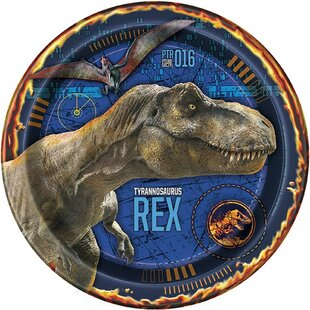Jurassic World 2 Paper Disposable Dessert Plate (Set Of 8) by NA Reviews
