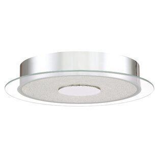 Orren Ellis Coletta Glass Shade Flush Mount