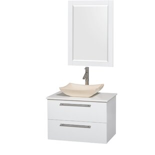 Bargain Amare 30 Single White Bathroom Vanity Set with Mirror By Wyndham Collection