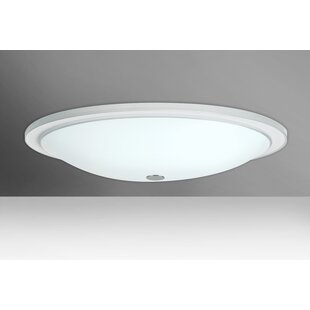 Latitude Run Cavandale 3-Light Outdoor Flush Mount