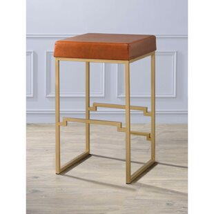 Orval Metallic Height 31 Bar Stool Everly Quinn