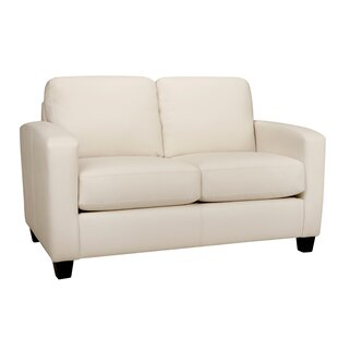 Woodby Leather Loveseat by Latitude Run Today Sale Only
