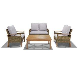 Wooldridge 4 Piece Outdoor Sofa Set