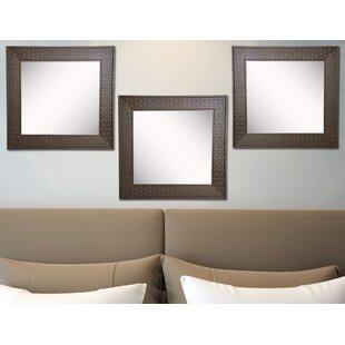 Winston Porter Hille Bricks Wall Mirror (Set of 3)