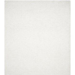 Detweiler Hand-Tufted White Area Rug byCharlton Home