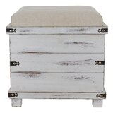 Hadley Weathered Storage Ottoman by Highland Dunes