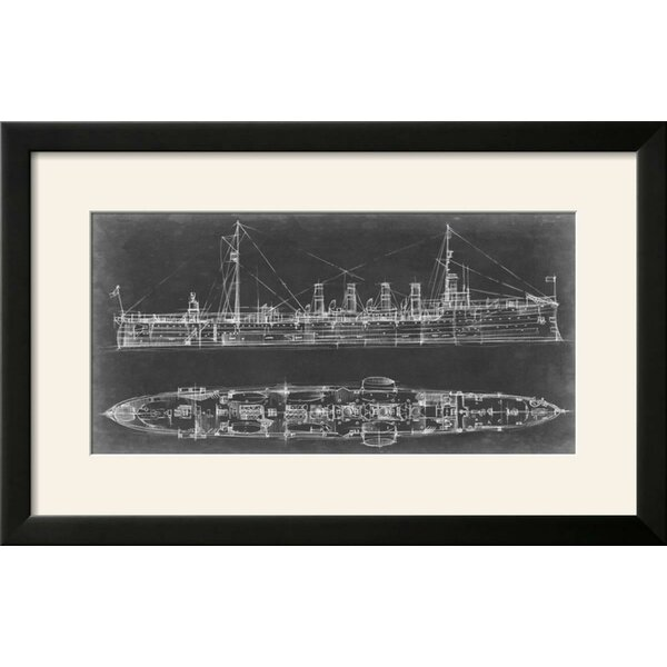 Williston forge navy cruiser blueprint framed graphic art print williston forge navy cruiser blueprint framed graphic art print wayfair malvernweather Gallery