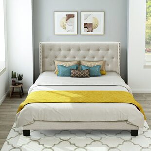 Story Queen Tufted Upholstered Low Profile Sleigh Bed by Red Barrel Studio