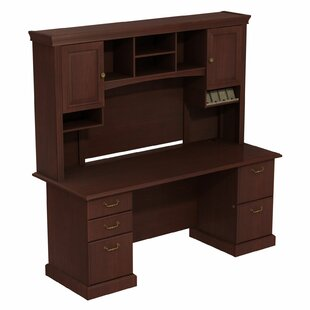Bush Business Furniture Syndicate Double Pedestal 2 Piece Desk Office Suite