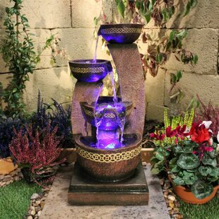 Aleyna Resin Water Feature With Light By Sol 72 Outdoor
