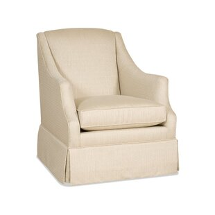 Lark Skirted Swivel Glider by Sam Moore
