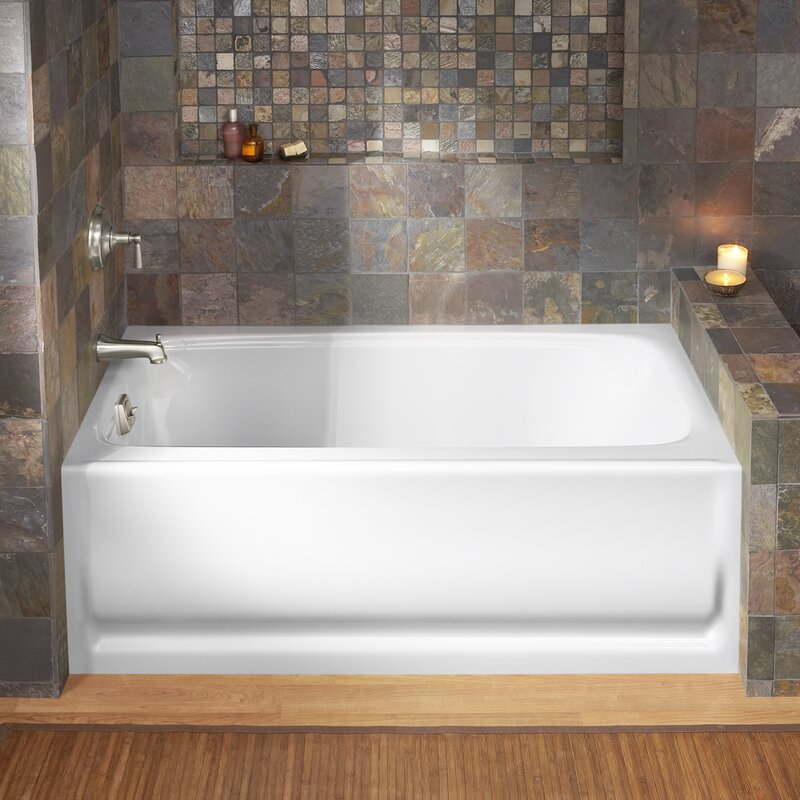 "kohler bancroft alcove 60"" x 32"" soaking bathtub & reviews 
