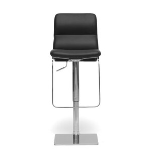 Calla Adjustable Height Swivel Bar Stool Latitude Run