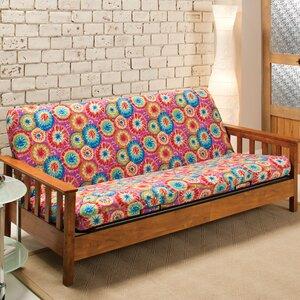 Patterned Box Cushion Futon Slipcover