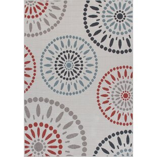 Eoin Weather-Proof Cream Indoor/Outdoor Area Rug