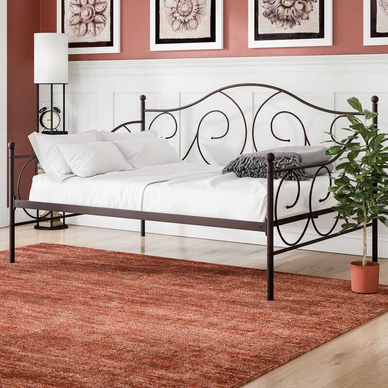 Andover Mills Mikayla Metal Scroll Daybed & Reviews