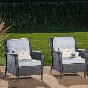 August Grove Gilmer Patio Chair with Cush..