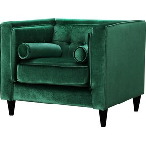 Roberta Velvet Club Chair by Willa Arlo Interiors
