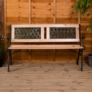 Minnelli Twin Cross Iron Bench By Sol 72 Outdoor