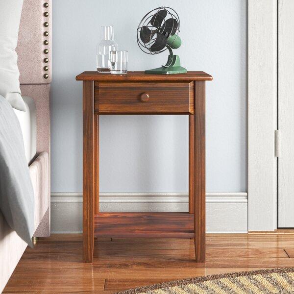 Andover Mills Errol 1 Drawer Solid Wood Nightstand Reviews Wayfair