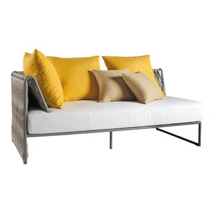 Pascarella Left Arm Loveseat with Cushions by Bungalow Rose