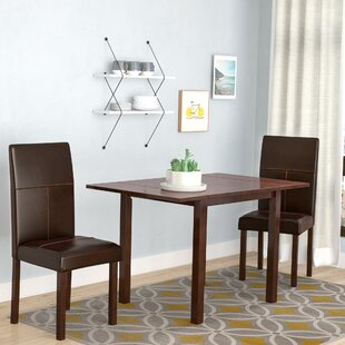 Brayden Studio Lorenzen 3 Piece Dining Set