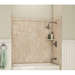 Affordable Elite Tub Surround 60 H x 60 W x 32 D Shower Wall ByFlexStone