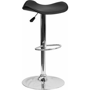 Whelan Backless Adjustable Height Swivel Bar Stool Orren Ellis