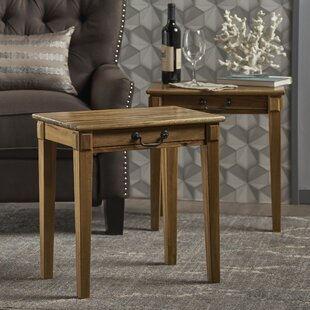 Best Reviews Hubbardston Wood End Table (Set of 2) By Loon Peak