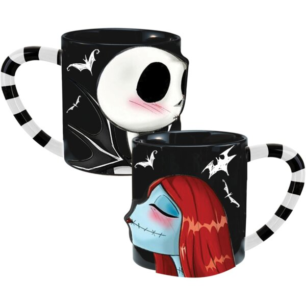 Vandor Nightmare Before Christmas 2 Piece Ceramic Coffee