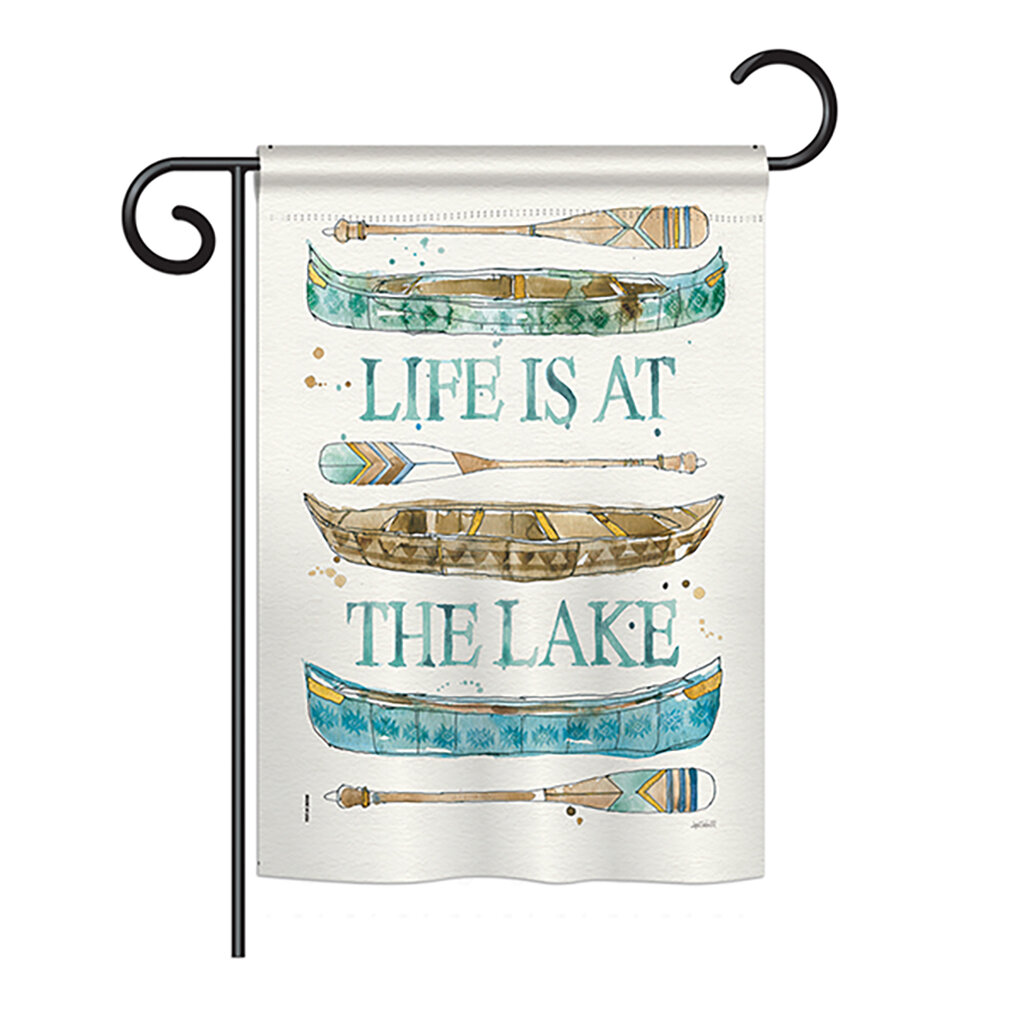 Breeze Decor Life At The Lake 2 Sided Polyester 18 5 X 13 In Garden Flag Wayfair