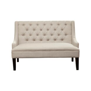Acuna Button Tufted Rubberwood Upholstered Bench by Canora Grey