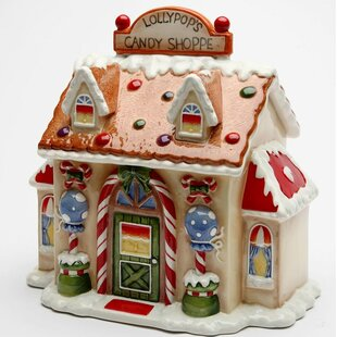 Santa's Village Candy Cookie Jar