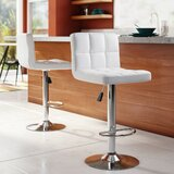 Stallcup Swivel Adjustable Height Bar Stool (Set of 2)