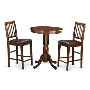 Eden 3 Piece Counter Height Pub Table Set by Wooden Importers Bargain